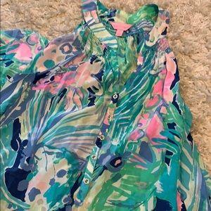 Women's Lilly Pulitzer beach flowy maxi dress